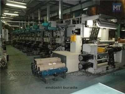 Plastomak 8 Renk 100 Cm. Shaftless Rotogravur Baskı Makinesi 7