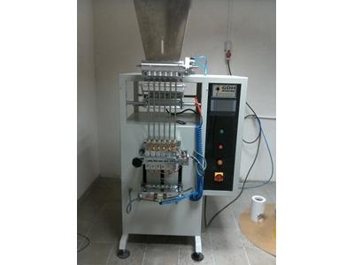 6 Kanallı Stick Şeker Dolum Makinesi 300 adet /dakika