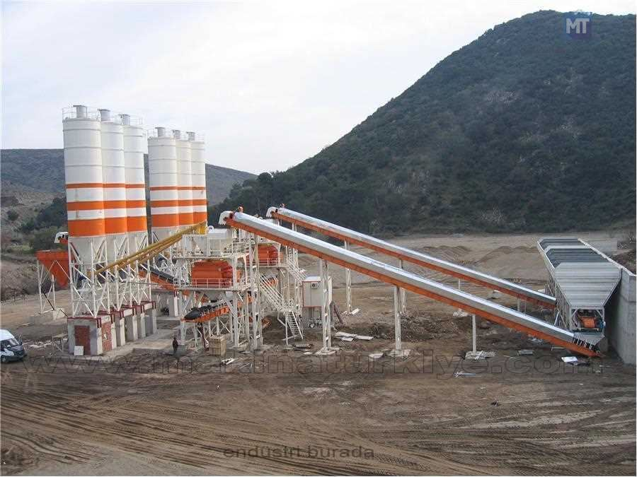 130 ton / saat Sabit Beton Santrali Semix  Turkuaz 130