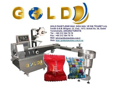 Fotoselli Tekli Küp Şeker Sarma Ambalajlama Makinası Goldpak