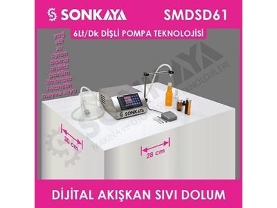 6Lt/Dk Yarıotomatik Dijital Akışkan Sıvı Dolum Makinası Sonkaya Smdsd61