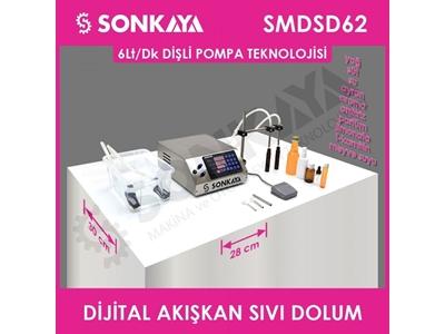 6Lt/Dk*2 Yarı Otomatik Dijital Akışkan Sıvı Dolum Makinası Smdsd62