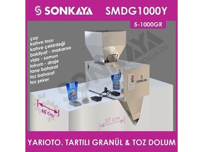 5-1000Gr Yarı Otomatik Tartılı Granül & Toz Dolum Makinası Smdg1000y