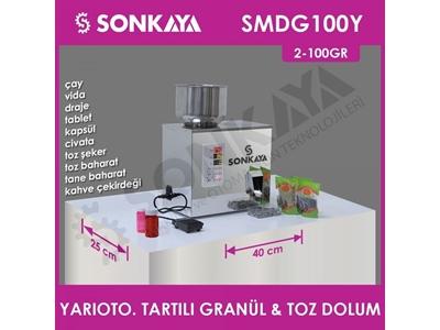 2-100Gr Yarıotomatik Tartılı Granül & Toz Dolum Makinası Smdg100y