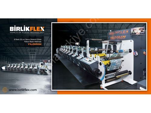 8 Color 35 Cm İn-Line Label And Flexo Printing Machine