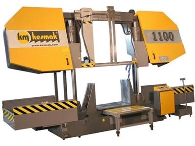 Sütunlu Yarım Otomatik Şeritli Testere Tezgahı - 1100 mm