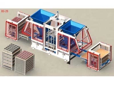 Otomatik Beton Parke Ve Briket Makinesi