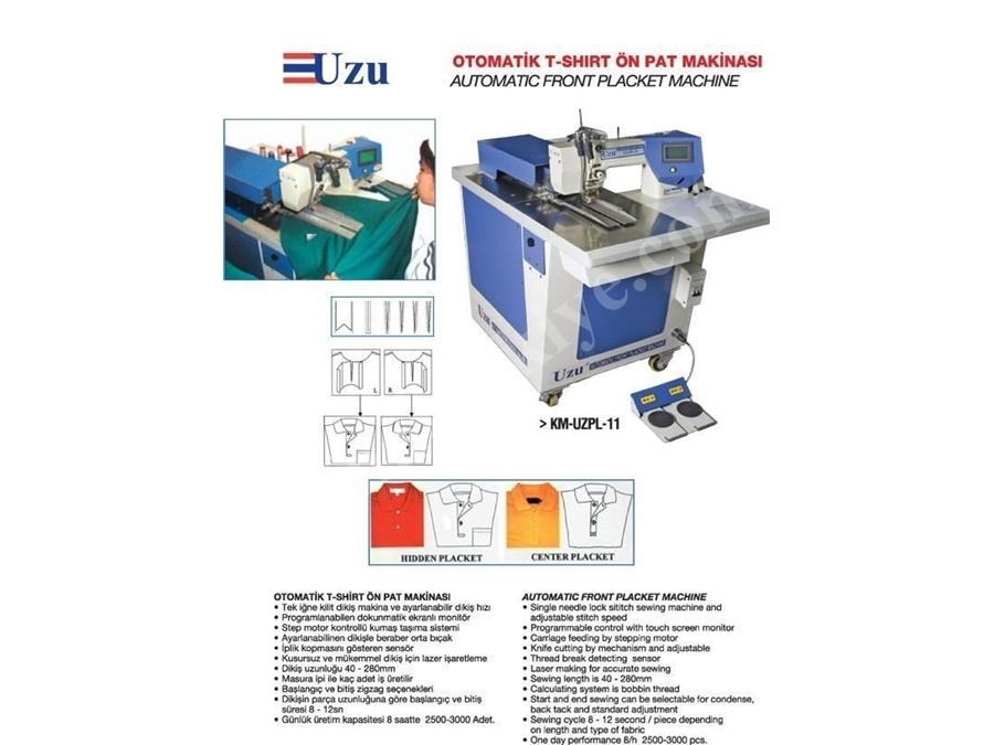 Otomatik T-Shırt Pat Makinaları / Uzu Km-Uzpl-11