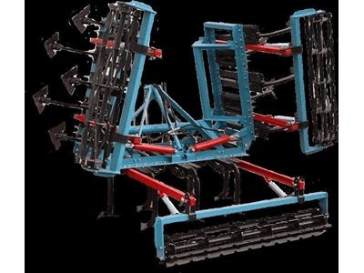 Hidrolik Katlanır Tek Sıra Döner Tırmık Kombinasyonlu 13 Ayaklı Kültivatör