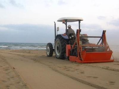 Traktör Çekicili Kumsal Temizlik Makinası / Durclean Beach Cleaner