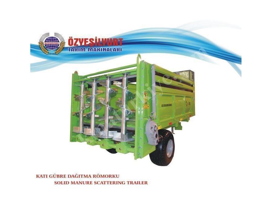 Katı Gübre Dağıtma Römorkü / Öz Yeşil Yurt  Makina Oyt01