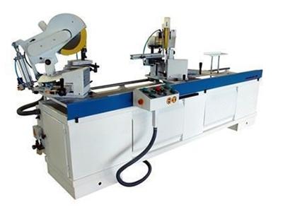 Otomatik Çift Köşe Kesim Ve Çift Delik Delme Makinası
