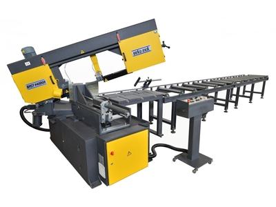 Çift Açılı Yarı Otomatik Şerit Testere Makinesi Beka-Mak (BMSY-440DGH NC)