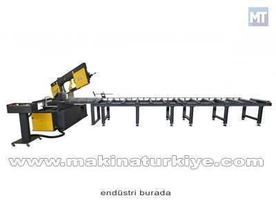 Çift Açılı Yarı Otomatik Şerit Testere Makinesi Beka-Mak - BMSY-440DGH