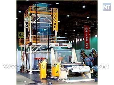 LDPE Film Makinası Kapasite : 75 kg / saat Film Genişliği 300 - 1000mm