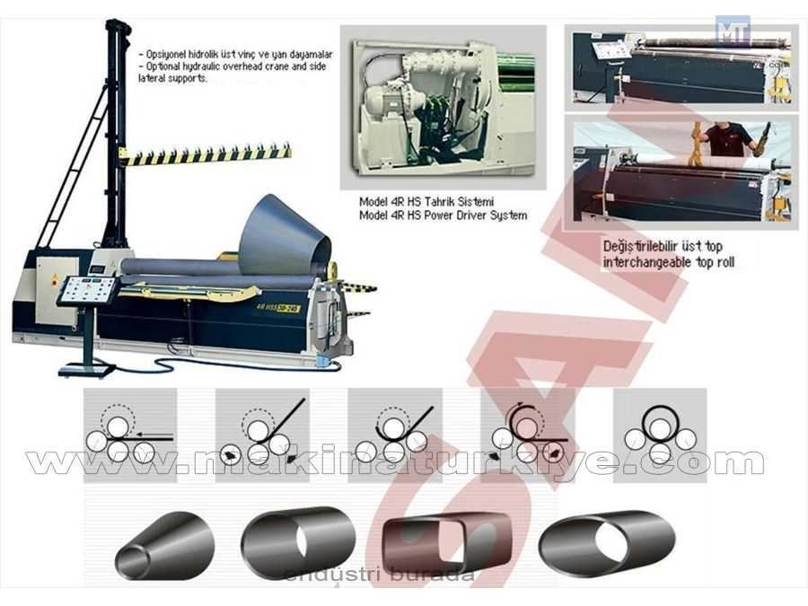 Hidrolik 4 Toplu Silindir Makinesi / Şahinler 4r Hs 10-150