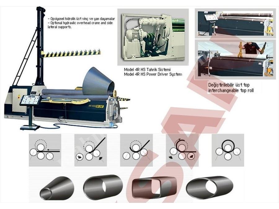 Hidrolik 4 Toplu Silindir Makinesi / Şahinler 4r Hs 15-150