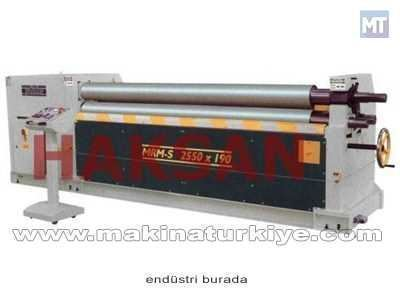 Asimetrik Motorlu 3 Toplu Silindir Makinesi / Şahinler Mrm-S 1050x120