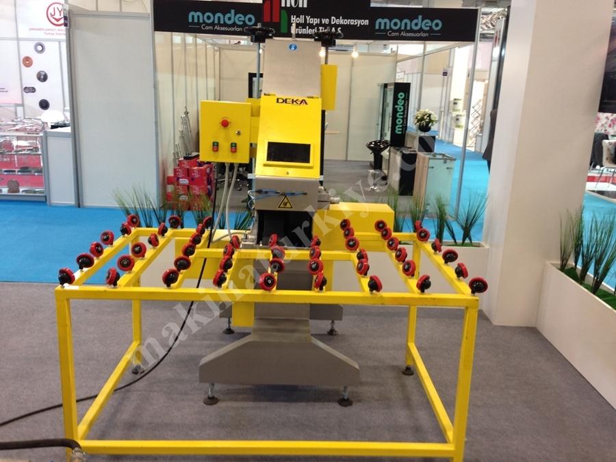 Deka Makina Çift Bant Cam Zımpara Makinesi
