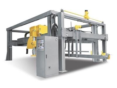 Mermer Blok Kesme Makinesi - Yandan Robotlu