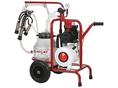 Tekli Arabalı, Kuru Motor Sistemli Süt Sağım Makinesi / Akçay Ak-Mk-1k/S-102