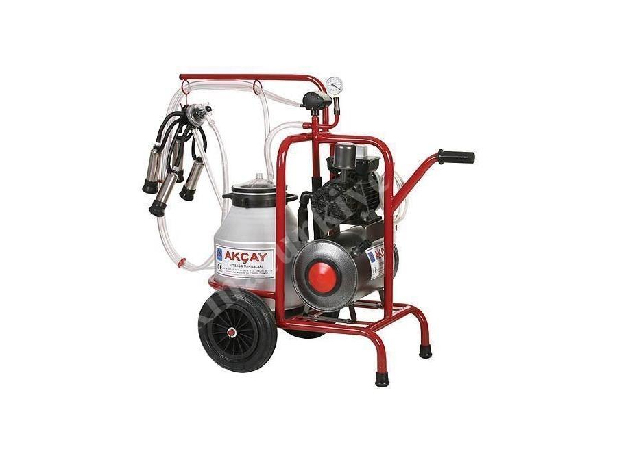 Kuru Motor Sistemli, Tekli Arabalı Süt Sağım Makinesi / Akçay Ak-Mk-1k/S-100