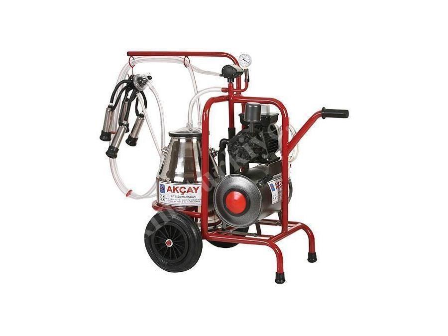 Kuru Motor Sistemli Süt Sağım Makinesi Tekli Arabalı / Akçay Ak-Mk-1k/S-101