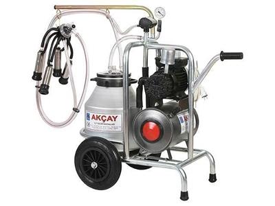 Tekli Arabalı, Kuru Motor Sistemli Süt Sağım Makinesi / Akçay Ak-Mk-1k/S-104