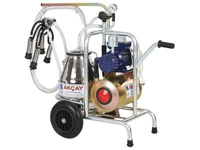 Kuru Motor Sistemli, Tekli Arabalı Süt Sağım Makinesi / Akçay Ak-Mk-1k/S-106