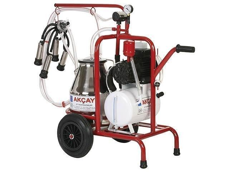Tekli Arabalı,Turbo Motor Sistemli Süt Sağım Makinesi / Akçay Ak-Mk-1t/S-205