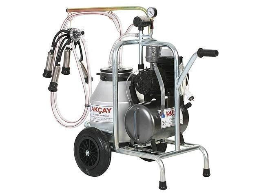 Tekli Arabalı Süt Sağım Makinesi