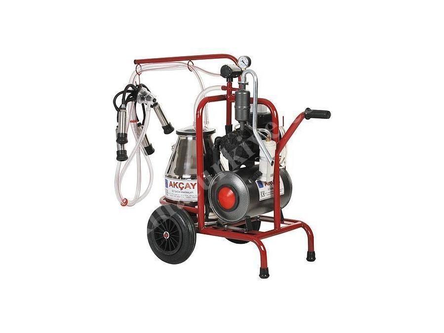 Yağlı Motor Sistemli,Tekli Arabalı Süt Sağım Makinesi / Akçay Ak-Mk-1y/S-301