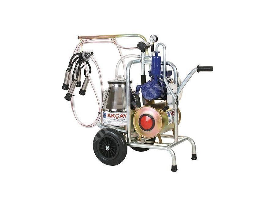 Tekli Arabalı, Yağlı Motor Sistemli Süt Sağım Makinesi / Akçay Ak-Mk-1y/S-307