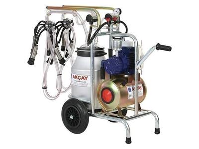 Kuru Motor Sistemli,Çiftli Arabalı Süt Sağım Makinesi / Akçay Ak-Mk-2k/S-110