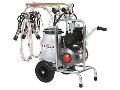 Çiftli Arabalı Süt Sağım Makinesi Kuru Motor Sistemli  / Akçay Ak-Mk-2k/S-108
