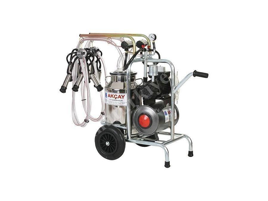 Çiftli Arabalı Süt Sağım Makinesi Kuru Motor Sistemli