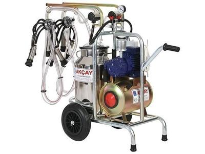 Çiftli Arabalı, Kuru Motor Sistemli Süt Sağım Makinesi / Akçay Ak-Mk-2k/S-111
