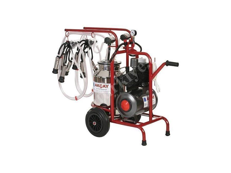 Çiftli Arabalı, Kuru Motor Sistemli Süt Sağım Makinesi / Akçay Ak-Mk-2k/S-114