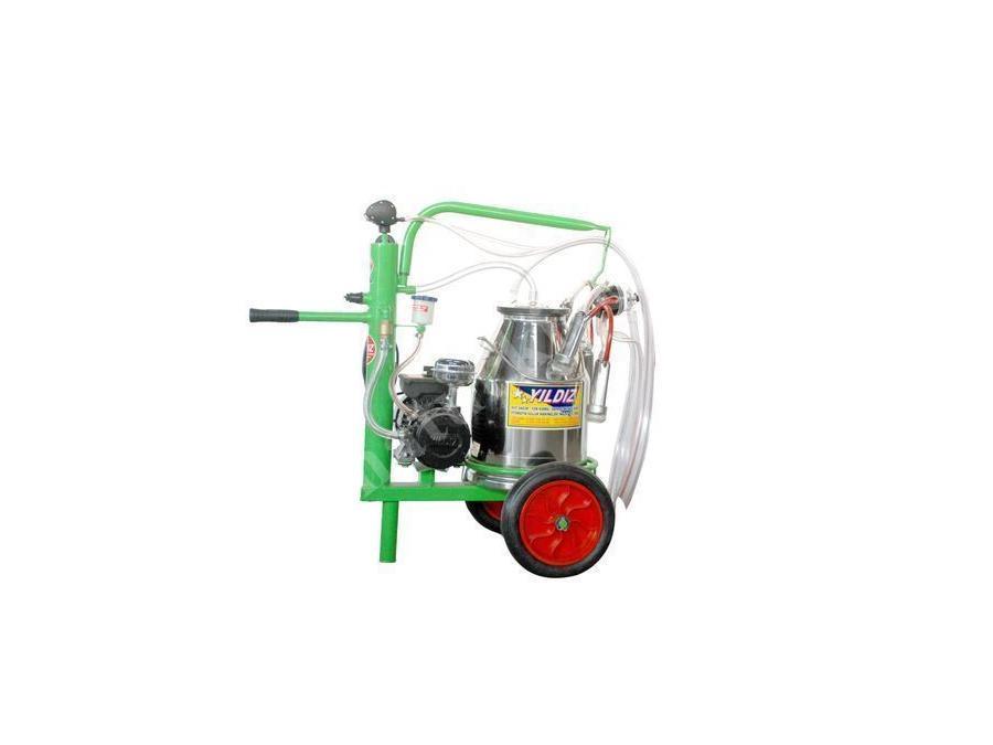 Tekli Süt Sağım Makinesi - Kral Modeli Arabalı Yarım Yağlı