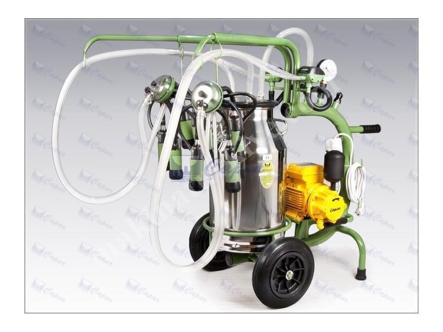 İki Üniteli Tek Kovalı Süt Sağma Makinası / Çapar Albino-A002