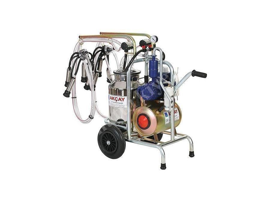 Çiftli Arabalı Süt Sağım Makinesi Yağlı Motor Sistemli  / Akçay Ak-Mk-2y/S-314