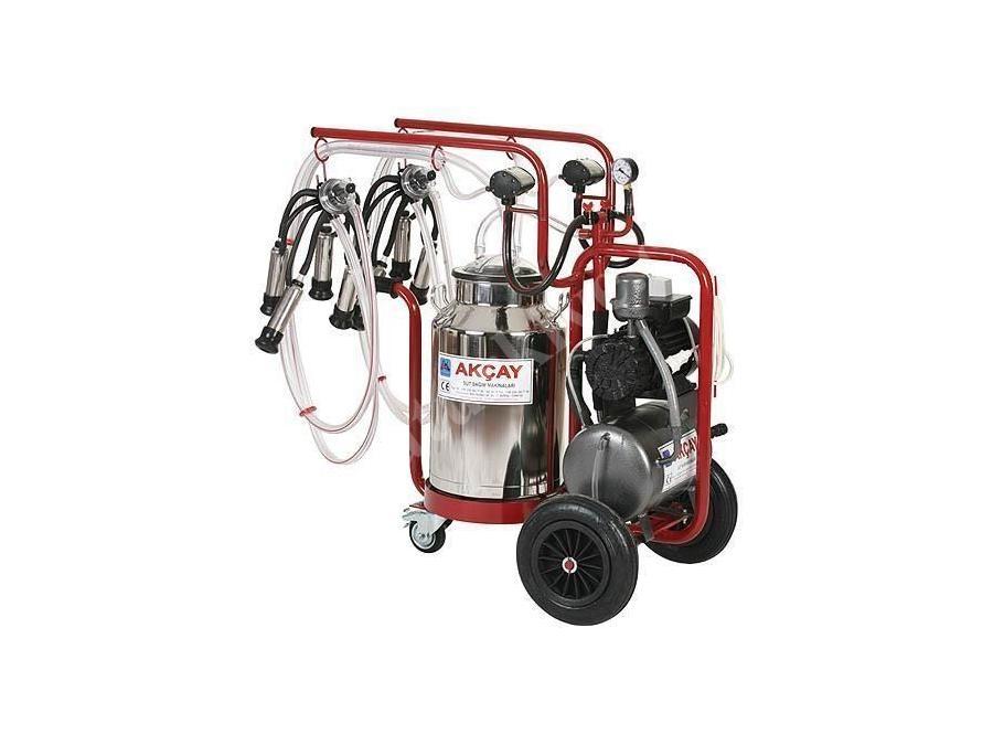 Çiftli Arabalı, 3 Tekerlekli Süt Sağım Makinesi Turbo Motor Sistemli / Akçay Ak-Mk-2t/S-415