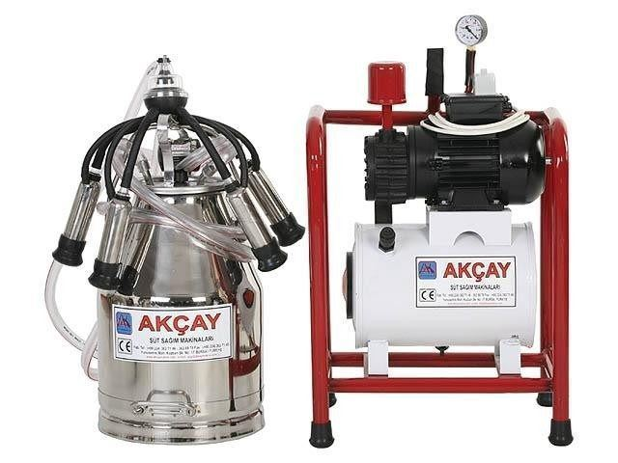 Tekli Sabit Sistem Süt Sağım Makinesi Kuru Motor Sistemli / Akçay Ak-Mk-1k/Ss-501