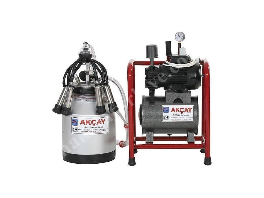 Tekli Kuru Motorlu Sabit Sistem Süt Sağım Makinesi / Akçay Ak-Mk-1k/Ss-505