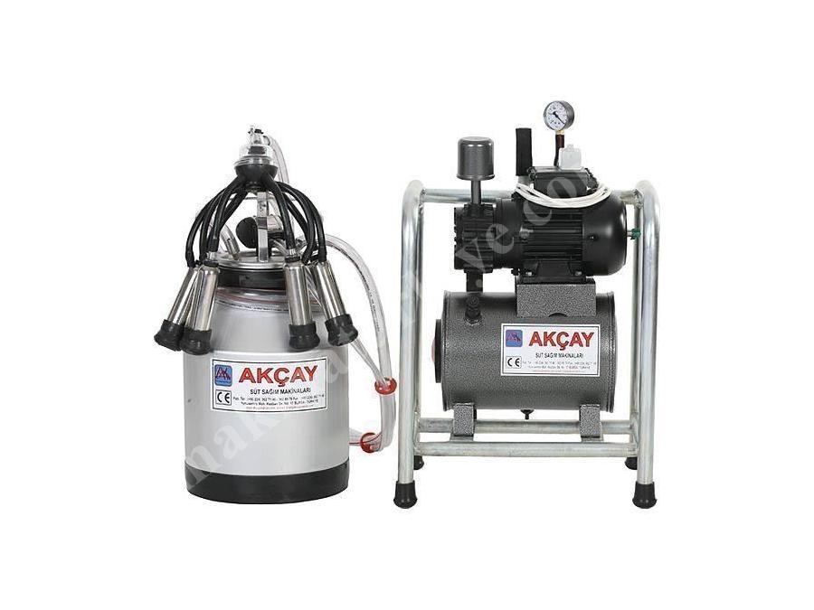 Tekli Kuru Motorlu Sabit Sistem Süt Sağım Makinesi / Akçay Ak-Mk-1k/Ss-506