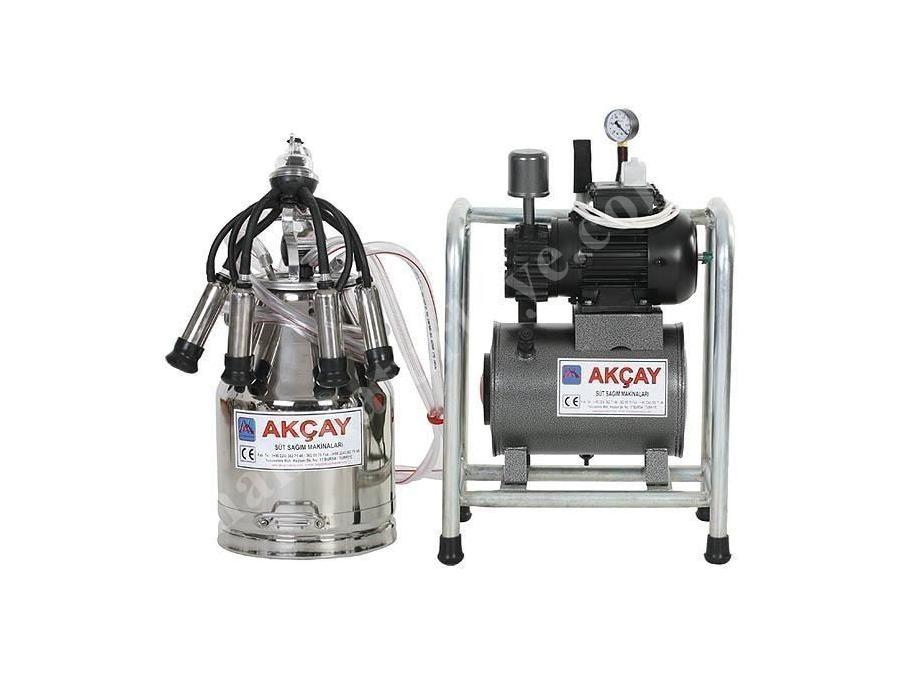 Tekli Kuru Motorlu Sabit Sistem Süt Sağım Makinesi / Akçay Ak-Mk-1k/Ss-507