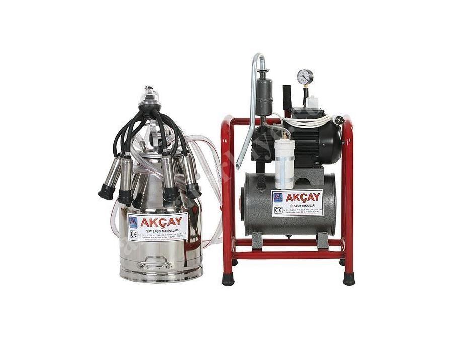 Tekli Sabit Sistem Süt Sağım Makinesi Yağlı Motorlu