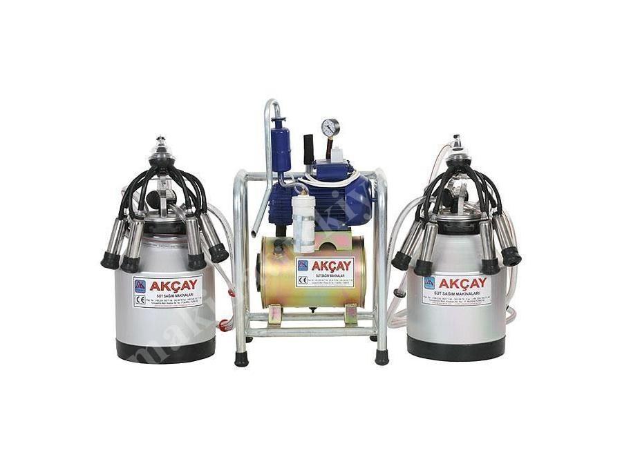 Çiftli Sabit Sistem Süt Sağım Makinesi Yağlı Motorlu