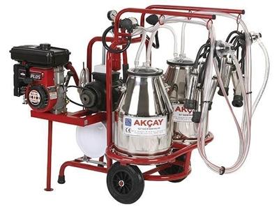 Süt Sağım Makinesi -Benzinli, Çiftli Arabalı, Çift Güğüm