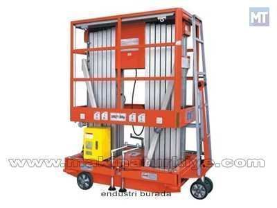 Çift Bomlu Mobil Alüminyum Çalışma Platformu / Hidros Mcpc6-2000